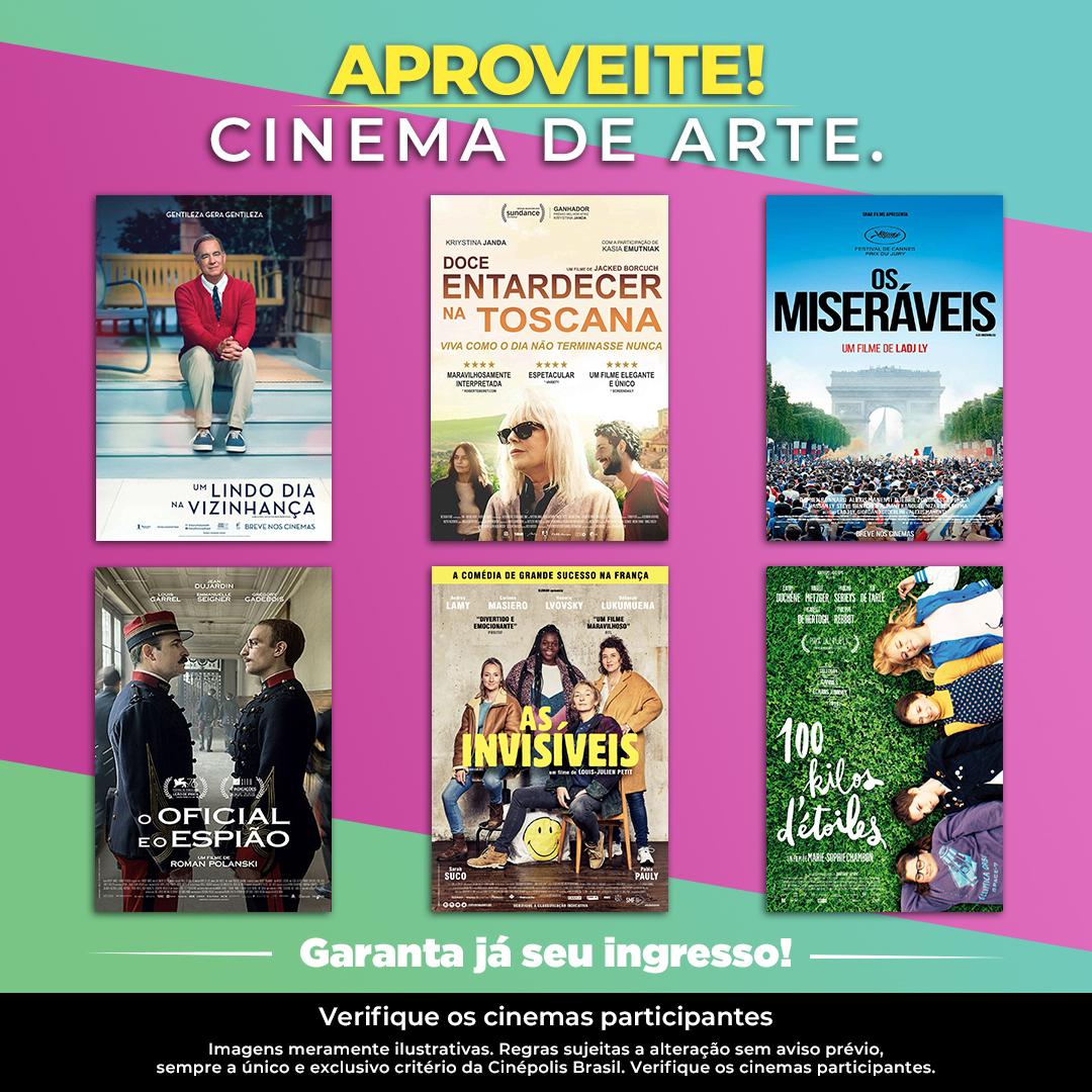 O melhor da sétima arte para você se emocionar. Confira a programação do #CinemaDeArte e #AssistaNaCinepolis. https://t.co/Wb0DxYALlA