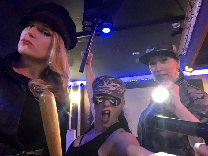 Well I guess I bettter make friday a little better for some of you and post a picture of Me at this weeks @DominaParties facility event with the two fabulous Ladies @Goddess_Cleo and @AnastaxiaDomina