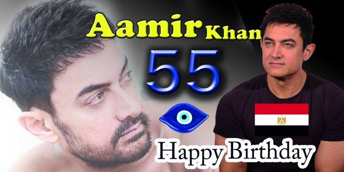 Happy birthday Aamir Khan we love you in Egypt