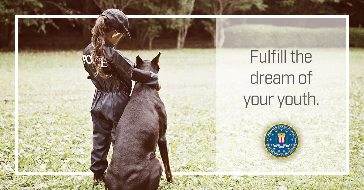 Since you were young, you always dreamed of fighting crime. Now is your chance. Apply today: ow.ly/dpdw50yHNsC