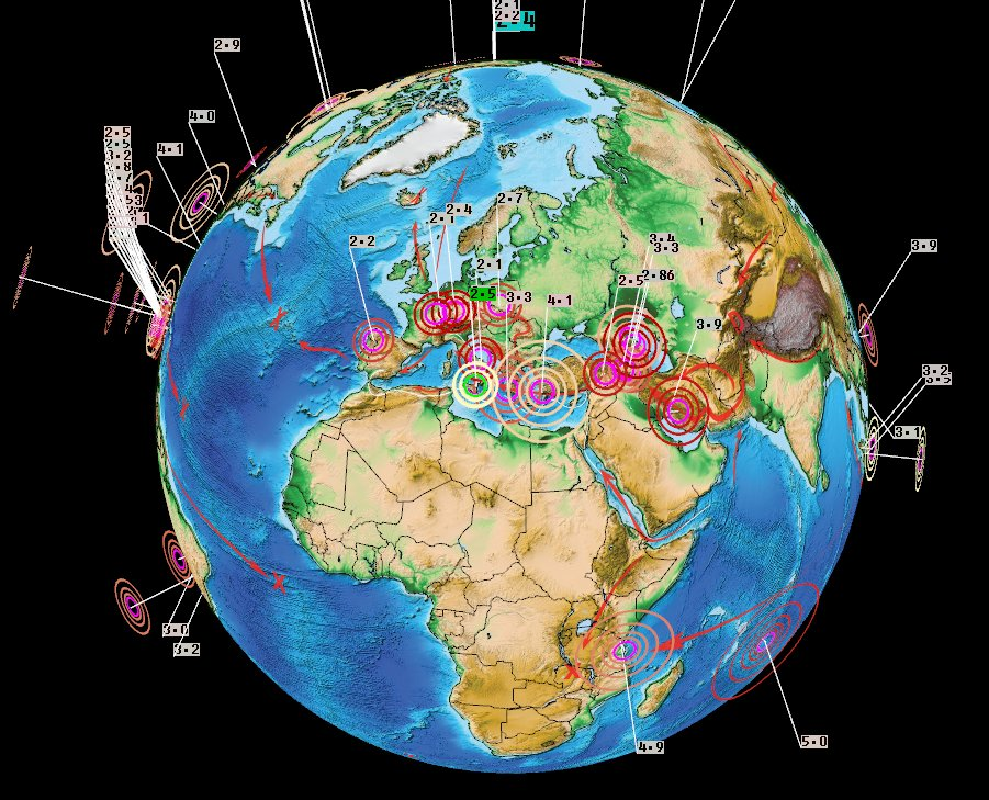 News Burst 14 Marzo 2020 - Earthquakes Europe Africa March 13 2020