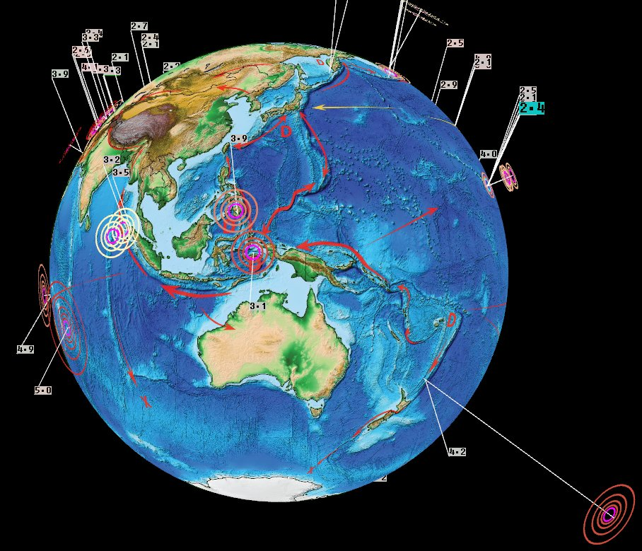 News Burst 14 Marzo 2020 - Earthquakes Asia Pacific March 13 2020