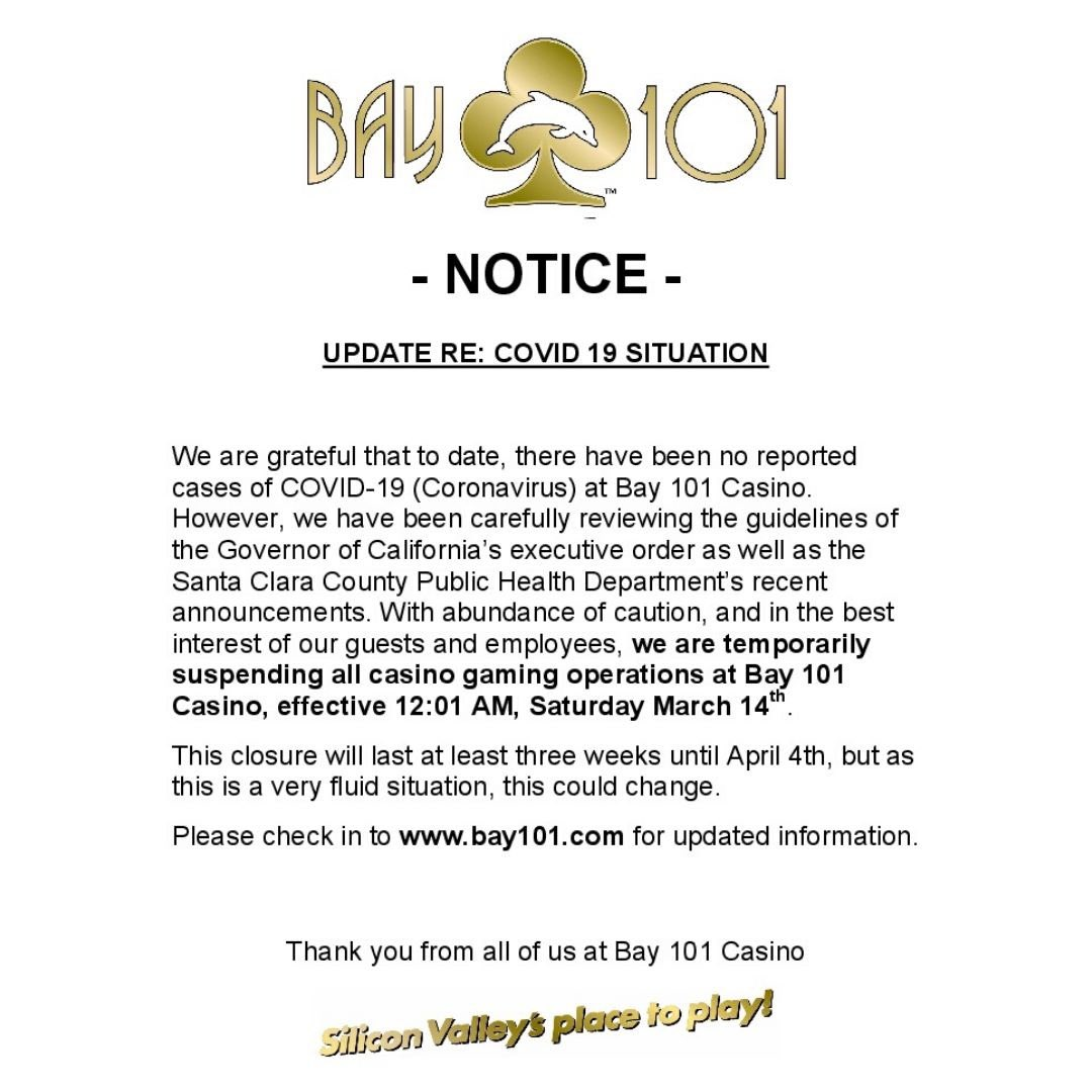 Notice of voluntary closure due to COVID-19