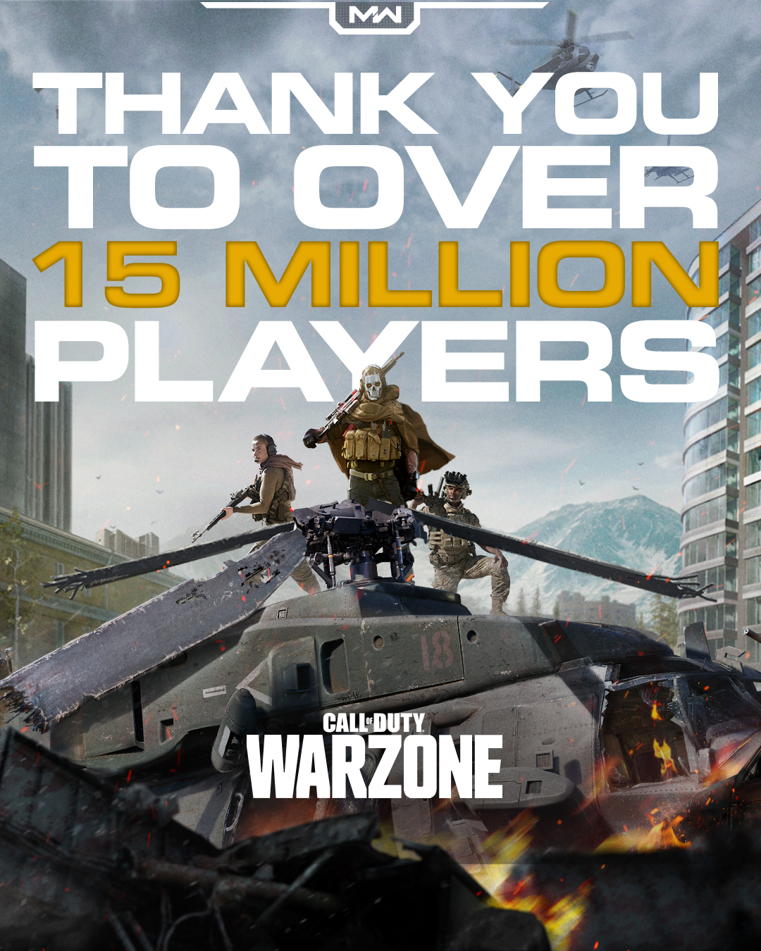 Call of Duty: Warzone hits 15 million players after three days