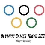 オリンピックのマークですら感染を避けるために距離をとる!