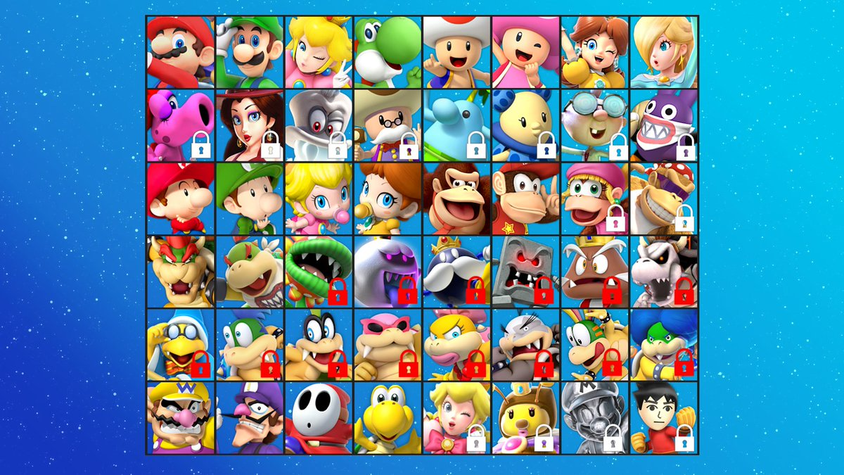 all mario kart 9 characters