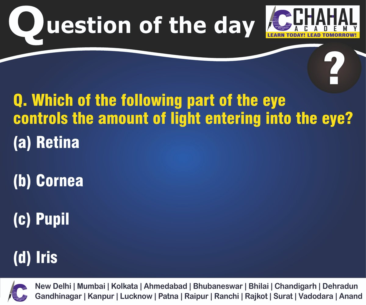 Question of the Day  Answer - D  #14thMarch2020 #Questionoftheday #UPSC2020 #IPS #IBPS #governmentexam #Currentaffairs #iasquestion #UPSCQuestion2020 #dailyquiz #coachinginstitute #iascoachingcenter #IASquestions #civilserviceexam  Visit:- http://chahalacademy.compic.twitter.com/GRjlJJnoyq