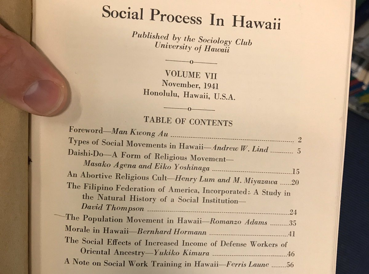 Image for the Tweet beginning: A student found 1941's Social
