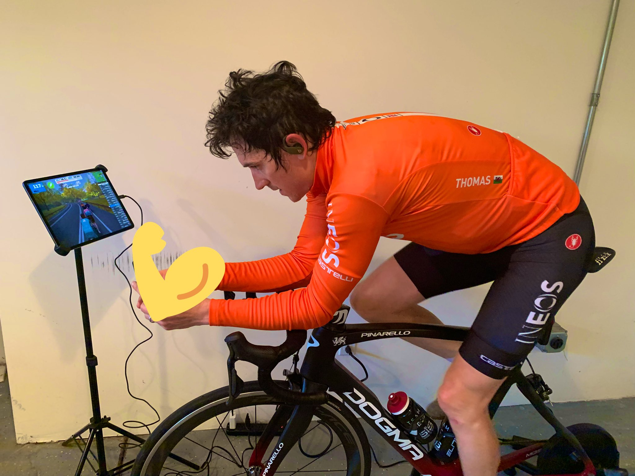 "Geraint Thomas on Twitter: ""No racing for a while so I'm saddling ..."