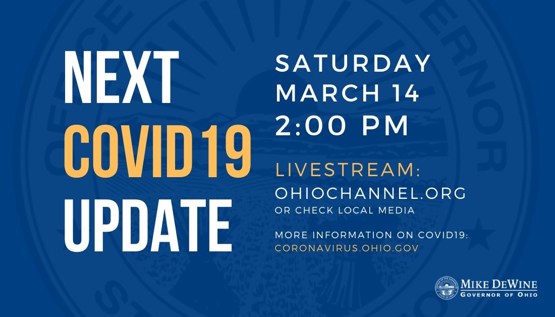 Governor Mike Dewine On Twitter Our Next Covid19 Update For Ohio Will Happen Today At 2pm Covid19ohioready