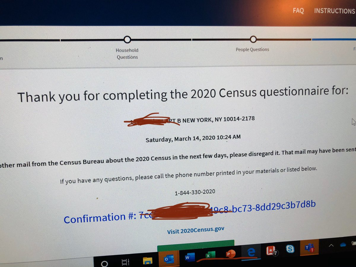 Looking for a super fun socially distant activity this morning? Fill out your census form online!