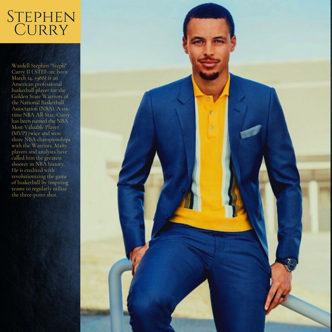 Happy birthday to Stephen Curry.