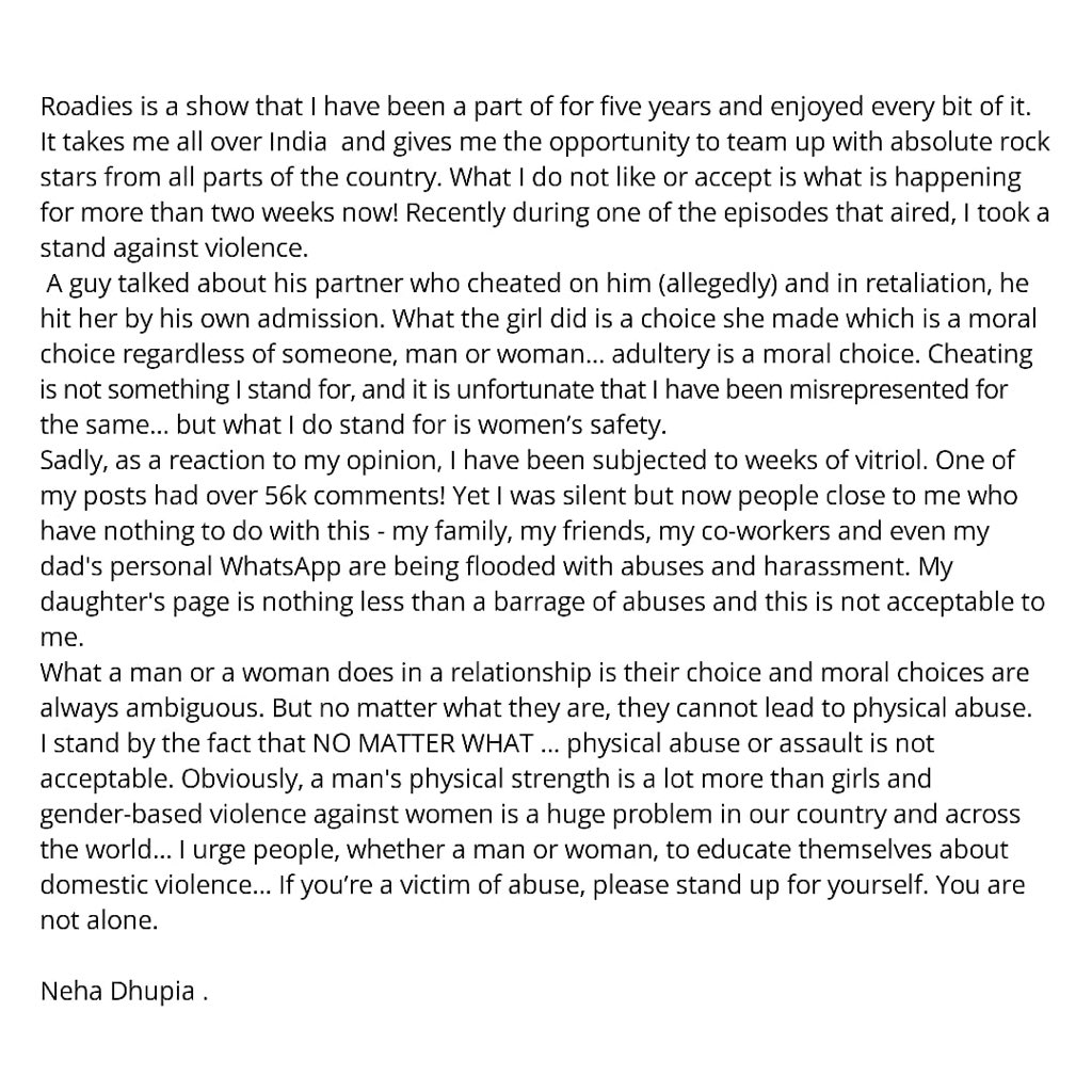 Neha Dhupia (@NehaDhupia) on Twitter photo 14/03/2020 11:52:48