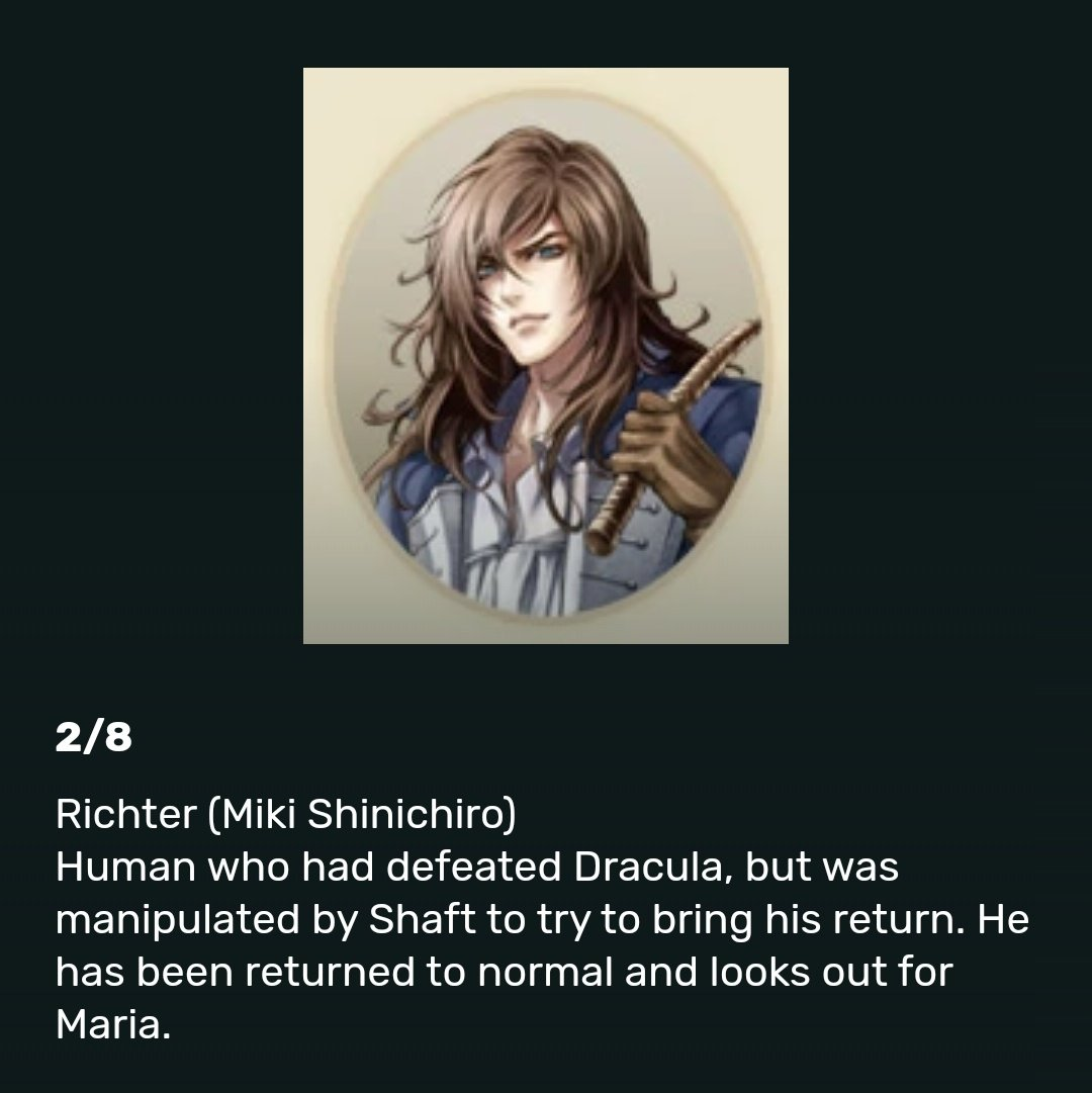 Richter Belmont Love On Twitter Did You Know In Castlevania Nocturne Of Recollection Richter Has The Same Voice Actor As Charizard And James Kojiro In Japanese Miki Shinichiro Https T Co 0qmss4csy5 Some of the japanese voice actors are still missing or unidentified if you know who they are, kindly help me simply by commenting below. richter belmont love on twitter