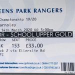 Image for the Tweet beginning: QPR vs Barnsley tickets, and