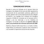 Image for the Tweet beginning: 📢 COMUNICADO DE LA JUNTA
