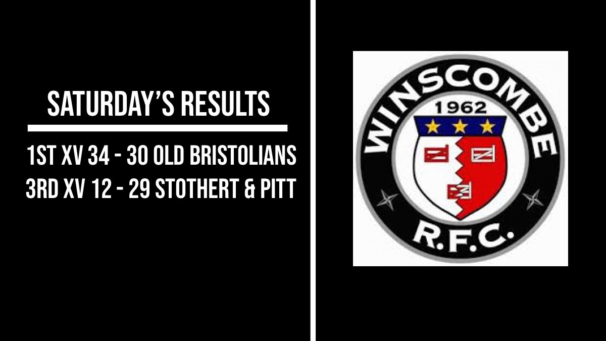 Saturday's Results 👇 Great win away for the 1st's away to @OBsRugby, whilst the 3rd's enjoyed a good battle away to @Stotherts II. ⚫️⚪️