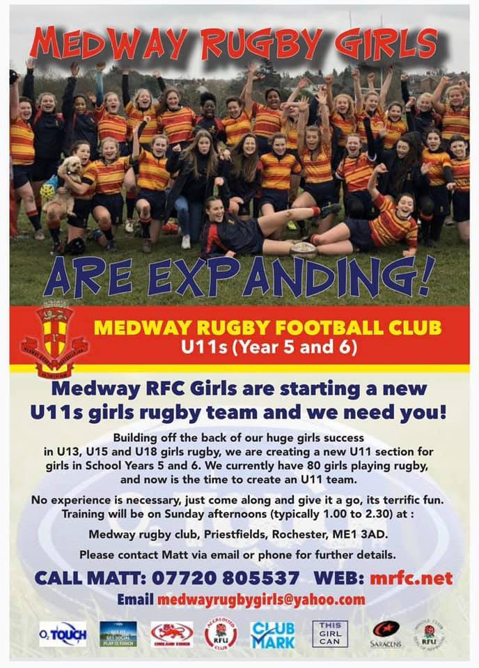 Looking forward to our U11 girls taster session tomorrow, 1.00pm to 2.30pm.