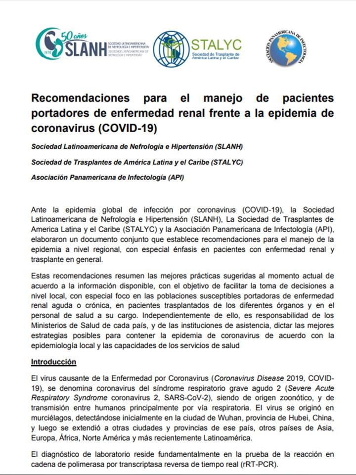 Manejo de la hipertensión en el diagnóstico de trasplante renal