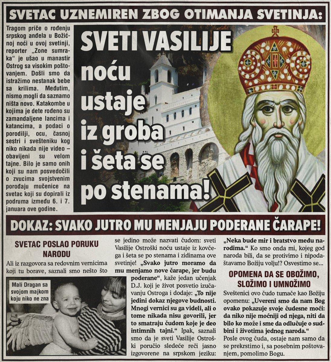 Ostrog: Sveti Vasilije noću ustaje iz groba i šeta se po stenama