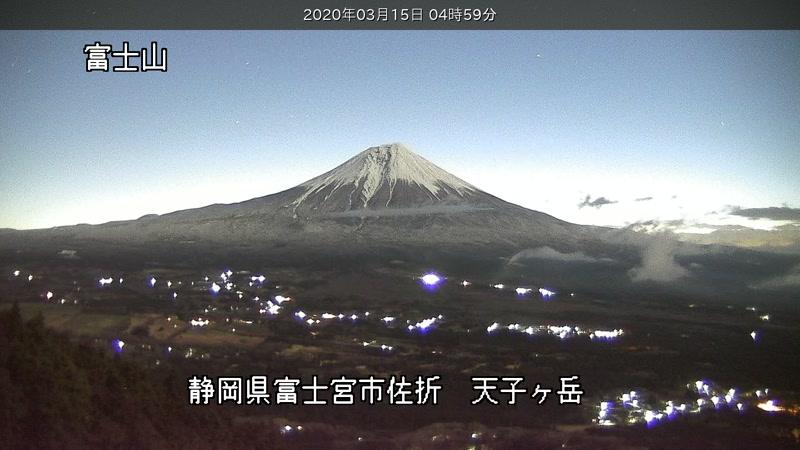 の へ go 富士山 雪