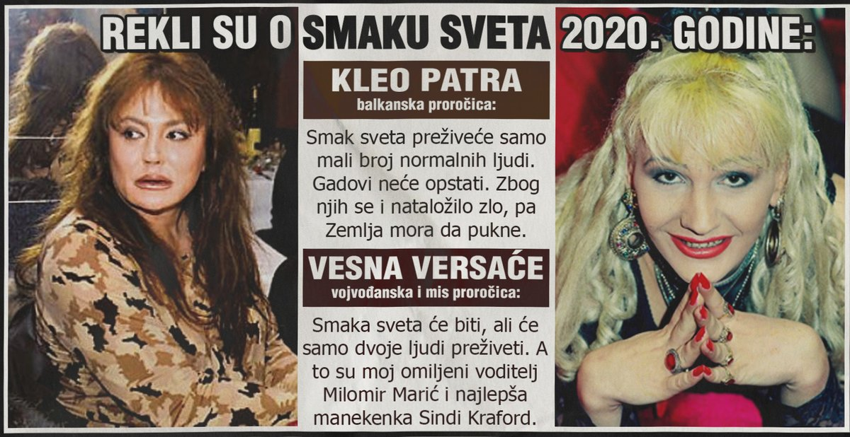 Kleopatra i proročica Vesna o smaku sveta 2020. godine