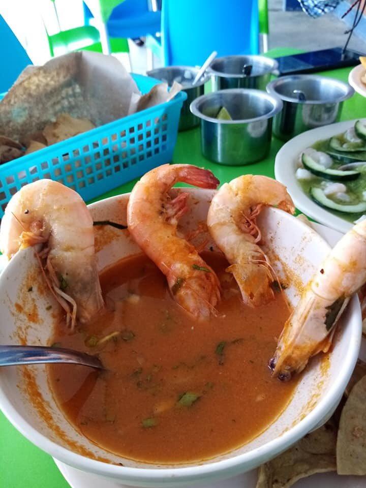 #DóndeComer #Campeche   Chilpachole de camarón y Aguachile de [Pezcaito Express]