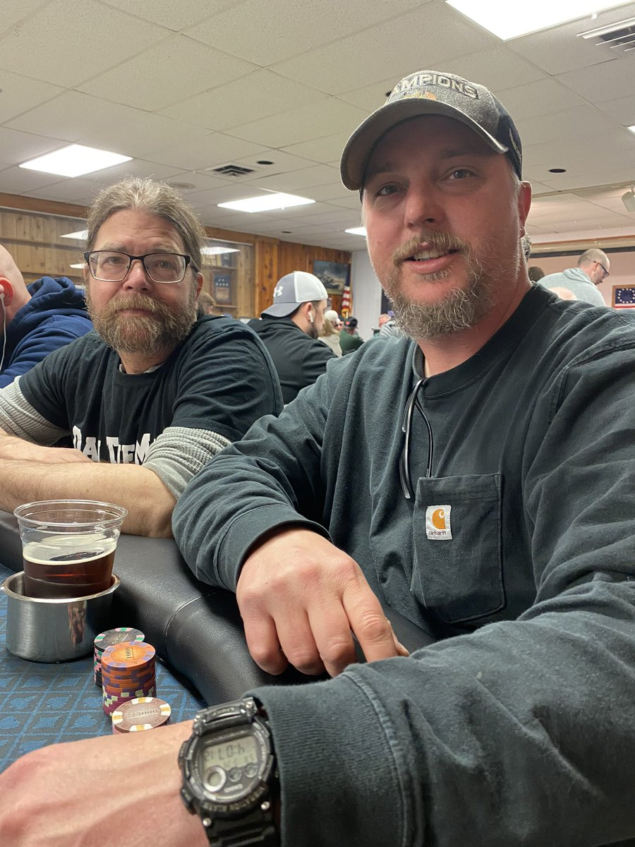 Finally... Get to play at the same table with my brother. @CCGpoker