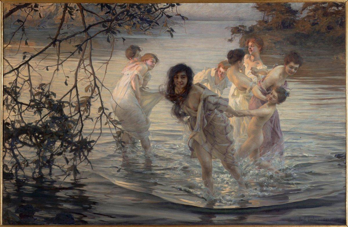"Historia del Arte on Twitter: """"Ninfas danzando"" es una obra academicista  del pintor francés, Paul Émile Chabas realizado en 1899. Una pintura que  parece moverse.… https://t.co/9ejgJeppkM"""