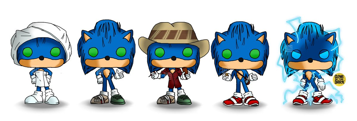 Miwo Working On Comms On Twitter I Really Wish I Had Sonic Movie Funko Pops Right Now Sonic Sonicthemovie Funkopop Sonicart