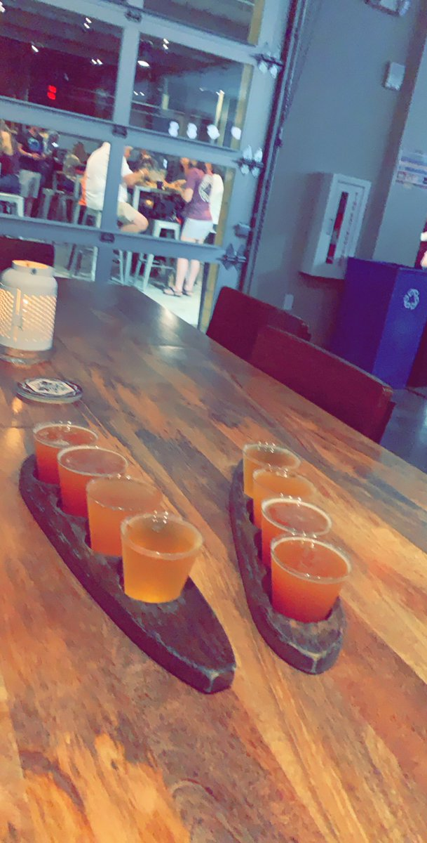 Visiting our friends at @ProofBrewingCo in TLH tonight for a flight of their #piday beer lineup.