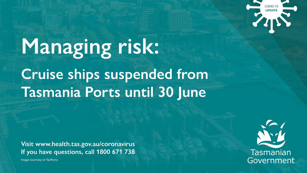 While the risk to the public of coronavirus remains low, we want to take all precautionary action to manage the situation proactively, and keep people safe. As a further measure we will suspend all cruise ship visits to our ports until 30 June. bit.ly/2wZVdcg