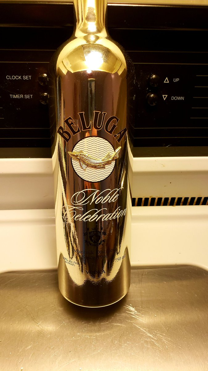 Beluga Vodka Advertising Bar Single Bottle Display