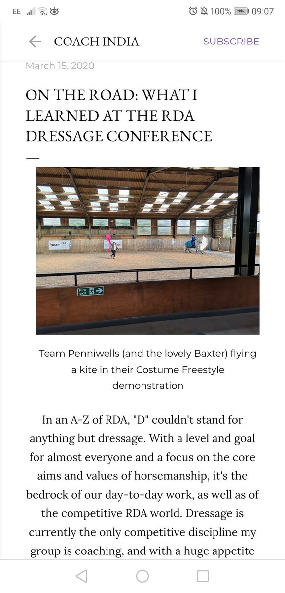 NEW this week on India's blog!  Lessons learned from a visit to @RDAnational for last weekend's #dressage conference - featuring @penniwellsrda#RidingfortheDisabled #ParaDressage #EquineBlogShare #EquestrianBlogger #paralympicspic.twitter.com/aJNZGk2DAN