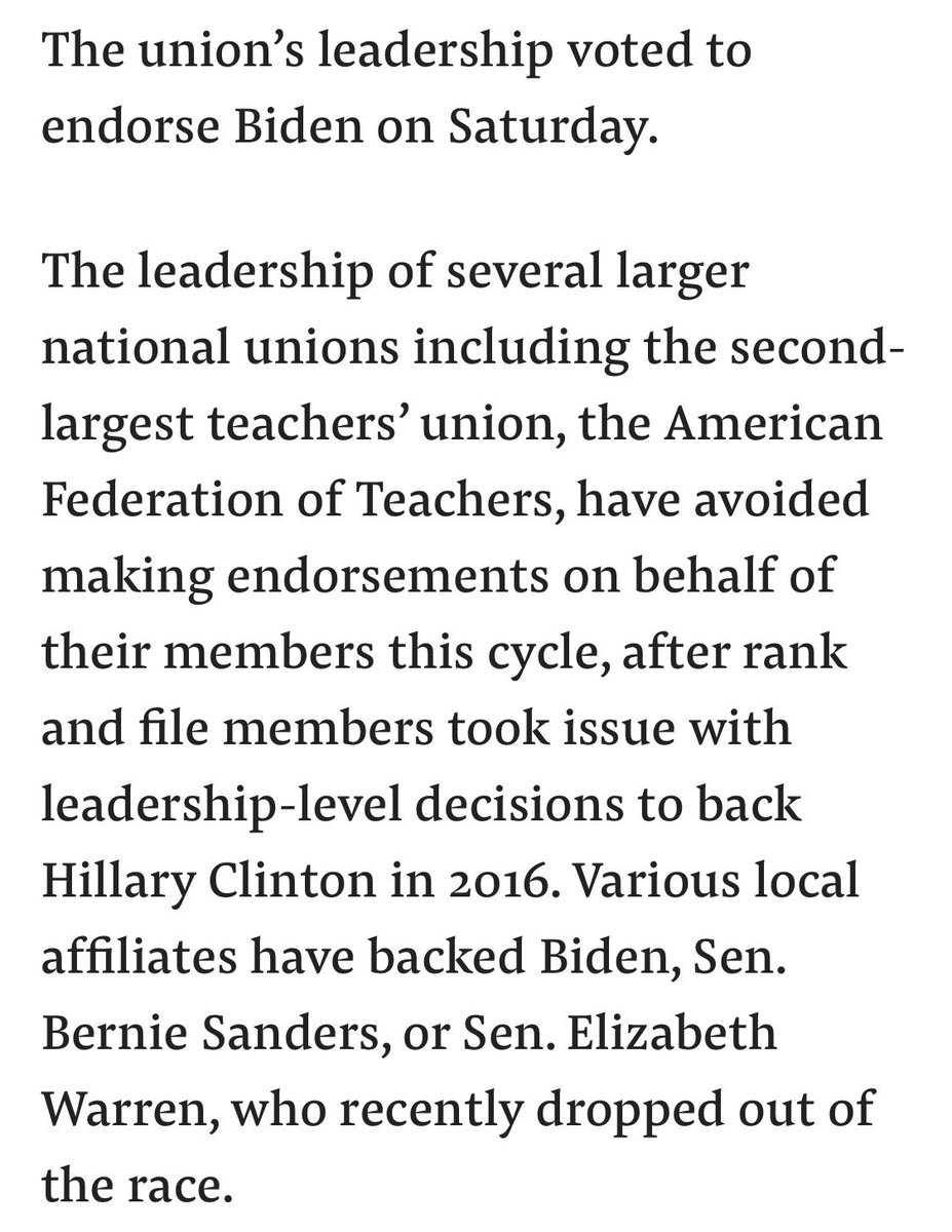 "@riotwomennn @JoeBiden @DrBiden @SymoneDSanders Uhh. Do you? ""Union's leadership voted to endorse"""