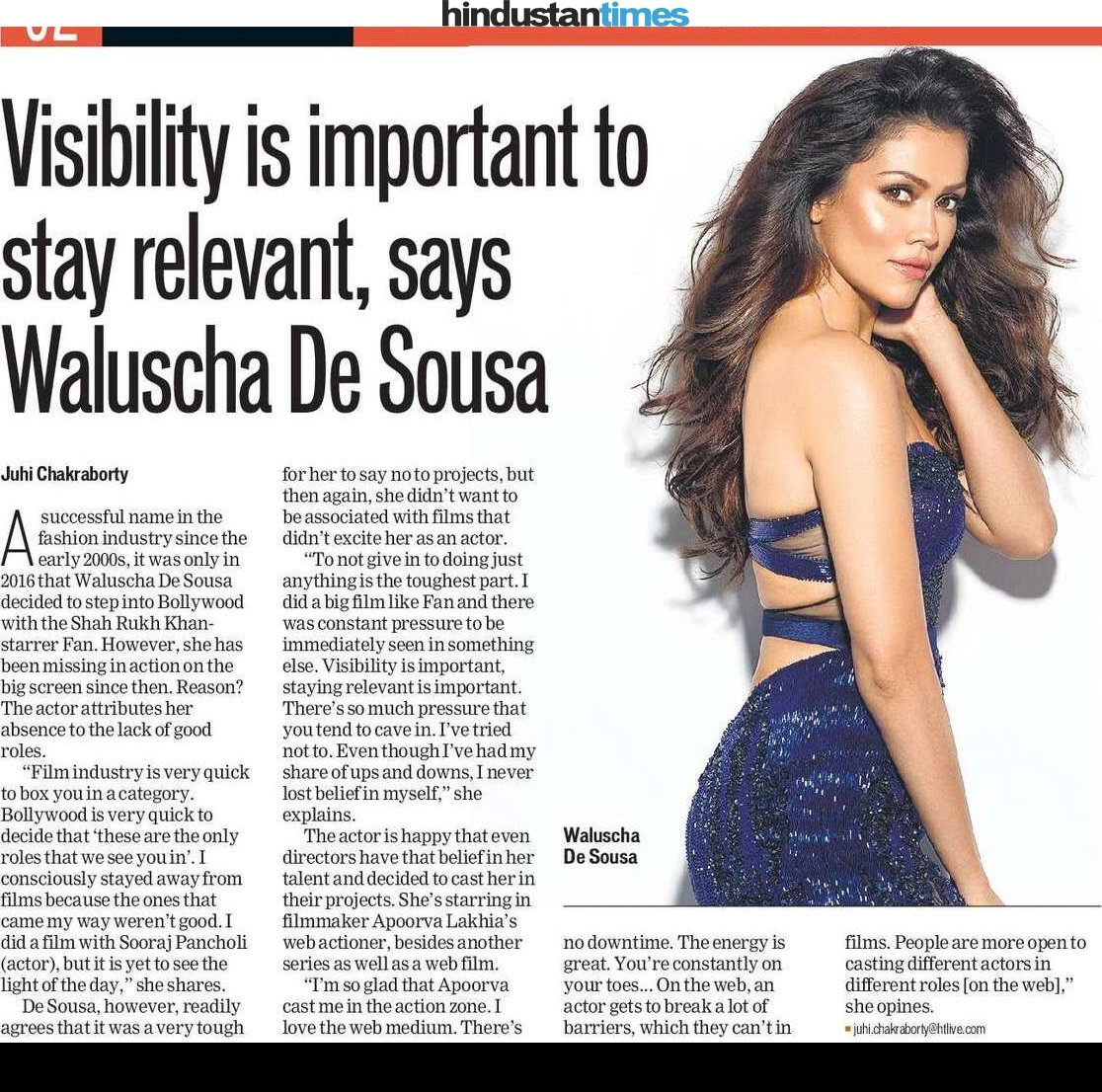 Visibility is important to stay relevant, says @Iamwaluscha