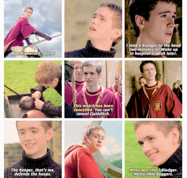 "Harry Potter World on Twitter: ""Oliver Wood movie quotes.  #HappyBirthdaySeanBiggerstaff… """