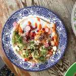 Image for the Tweet beginning: Our Breakybab with aubergine tahini,