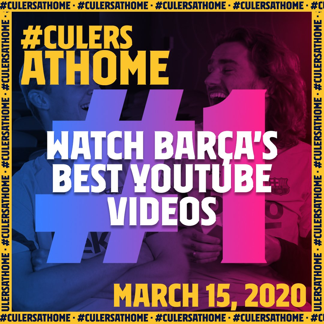 #CulersAtHome #️⃣1️⃣   🎥 #StayAtHome and have some fun with a special selection of our best @YouTube videos.  Scroll through the thread to see them all! 👇