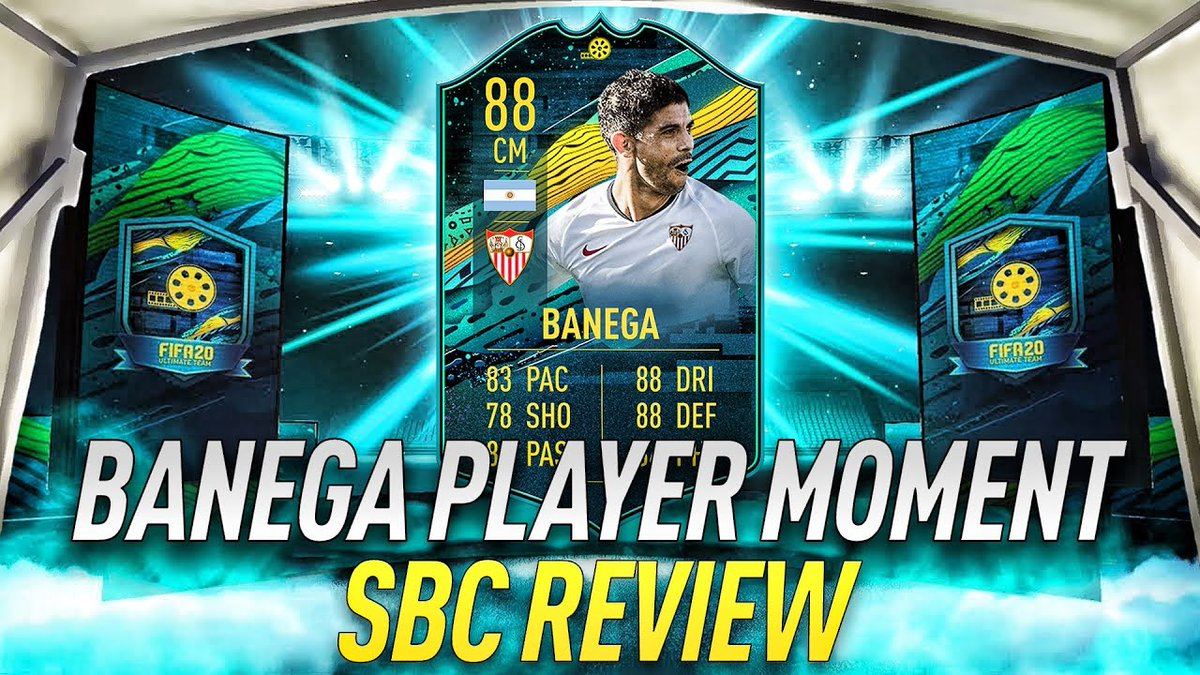BANEGA 🇦🇷 #PLAYERMOMENTS #SBC #REVIEW  For more ⤵️🔝 https://t.co/ORNnMzMVQK  What do you think? Like, Comment & Retweet 👍⤵️🔁  #fifa20 #fut20 #fifa #fut #fifanews #totw #Teamoftheweek #Squadradellasettimana #packopening #TOTW  #fifaultimateteam #TOTW26 #totw26 #Futplayerdays https://t.co/nud3Fa6ZVp