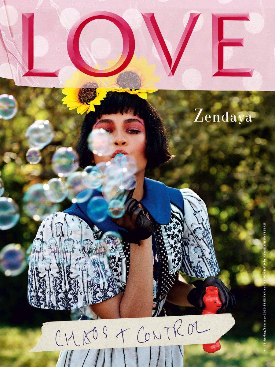 젠데이아 Zendaya & 스톰 리드 Storm Reid (p: Alasdair McLellan), Love Magazine #23, S/S 2020. <The Euphoric Sisters> 1/4 https://t.co/OqEGEKYtIU