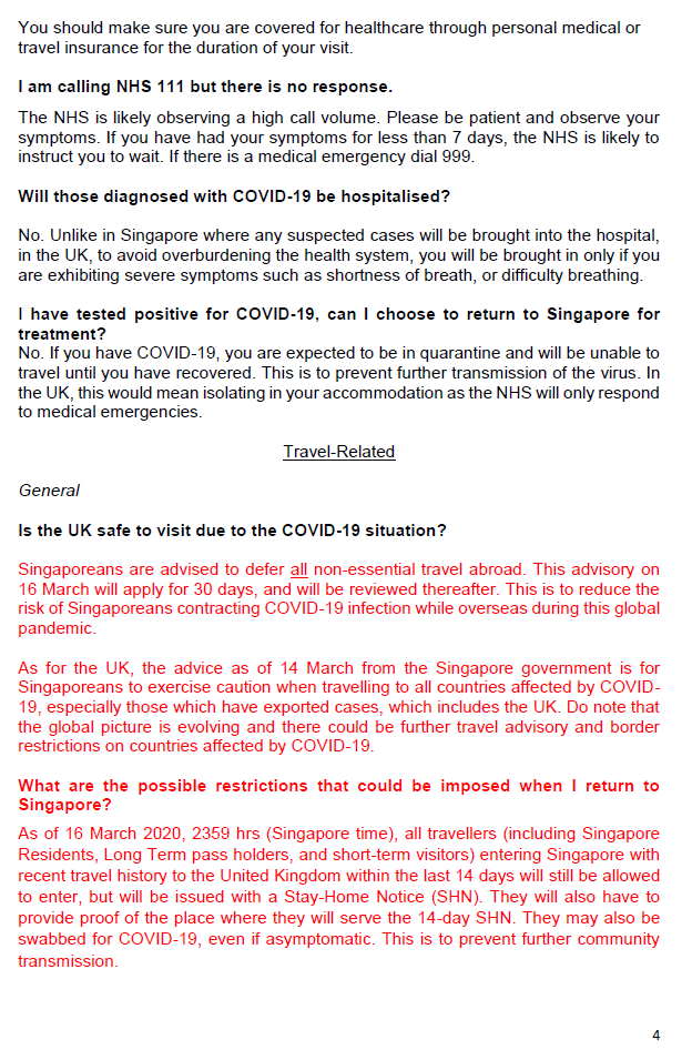 Singaporehclondon On Twitter Update 15 March 2020 There Are New Travel Restrictions For Returning Travelers From The United Kingdom Into Singapore Https T Co Xkw1qvvtm0 Please Refer To The Attached Frequently Asked Questions Sgunited 1 2