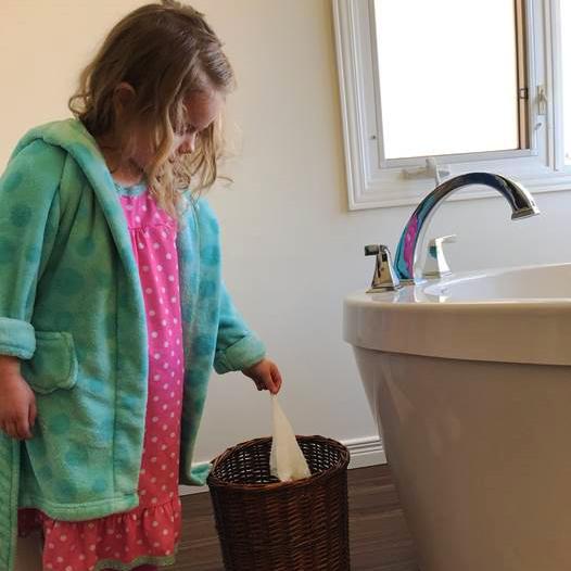 Image result for ddon't flush sinfectant wipes