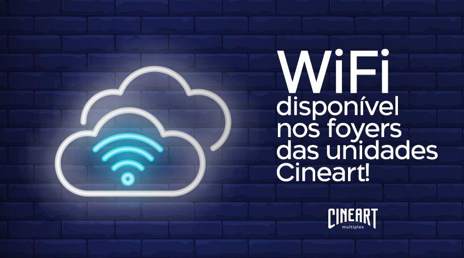 Tem WiFi sim! 📲  Redes de internet estão disponíveis nos foyers das unidades Cineart para manter você conectado mesmo enquanto espera a sua sessão. https://t.co/jZA2xKpe3I