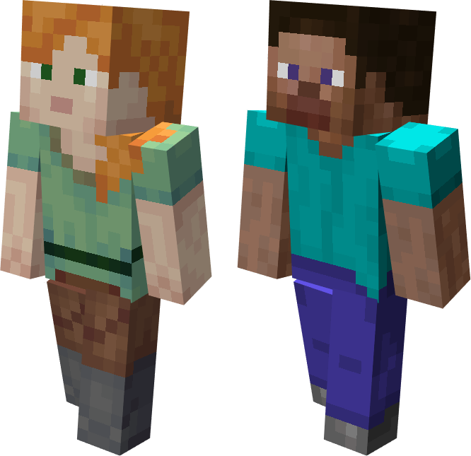 Hatsondogs On Twitter Retextured Alex And Steve Minecraft