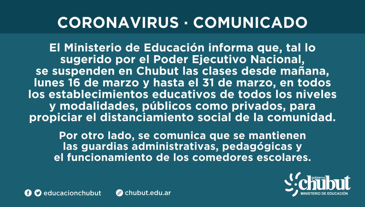 [AHORA] Situación en #Chubut #coronavirus https://t.co/rAnSE3vXCG