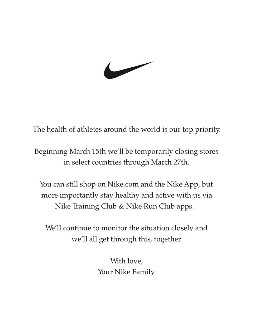 With love, Your Nike Family