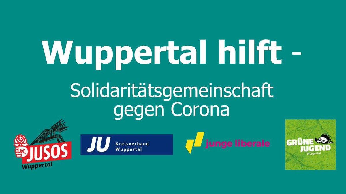Die @jusos_wtal, #JungeUnion, @Julis_Wuppertal und #GrüneJugend haben auf #Facebook eine Gruppe etabliert, um Bürger*innen in #Wuppertal in Zeiten von #COVID19 zu unterstützen   Link: https://www.facebook.com/groups/552519635397286/?ref=share…pic.twitter.com/5Vq6UBTXlQ