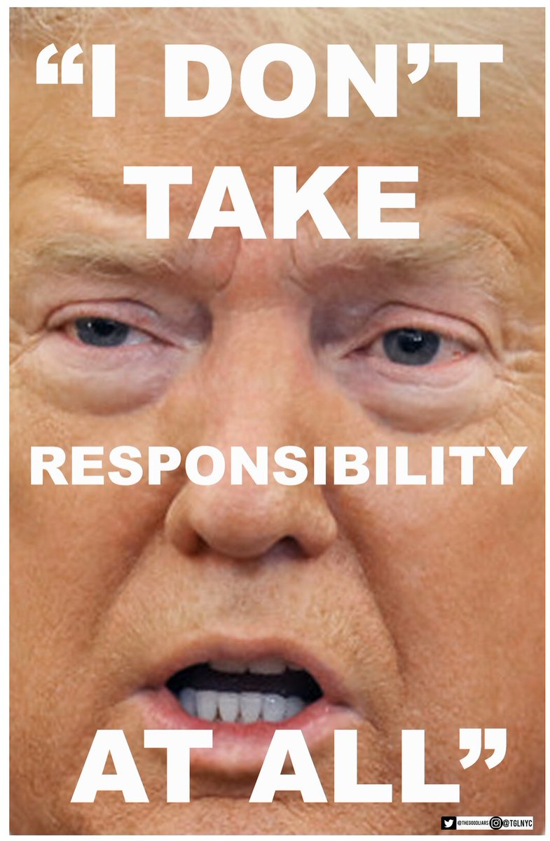 Paul Myers On Twitter Download The Trump I Don T Take Responsibility At All Poster Here Https T Co Exnlatf5dd