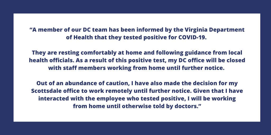 My statement on COVID-19 and office closures: schweikert.house.gov/media-center/p…